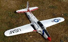Electric EDF model airplane