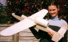 EDF RC model airplane and pretty girl