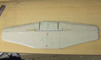 Tail surfaces brown paper covered foam electric C130 hercules