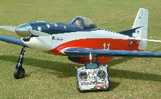 Electric RC model aircraft miss america