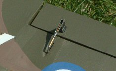 electric vintage RC model airplane