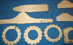RC model laser cut parts set