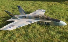 RC electric prop jet airplane