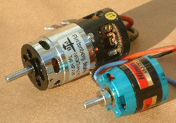 brushed and brushless electric motors for model airplanes