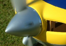 spinner and propeller of an electric model aircraft