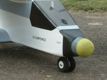Electric RC model aircraft nose