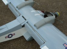 RC model aircraft flaps in landing position