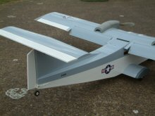 RC electric model airplane T tail