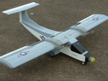 RC electric twin model aircraft